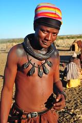 finally a himba man (luca.gargano) Tags: africa man necklace decoration tribal tribes tribe himba angola gargano namibe ovahimba himbas lucagargano muhimbas muhimba