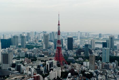 フリー画像| 人工風景| 建造物/建築物| 街の風景| 東京タワー| 塔/タワー| ビルディング| 日本風景| 東京|   フリー素材|
