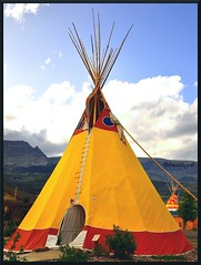 "Native American Tipi ("""" Arun) Tags: trip travel summer vacation usa house holiday nature nationalpark nikon montana native glacier nativeamerican hut american glaciernationalpark teepee arun tipi dwellings dwelling d90 nativeamericanculture nativeamericandwelling nikond90 nativeamericanhut nativeamericanlife nativeamericantipi nativeamericanstyletipi"