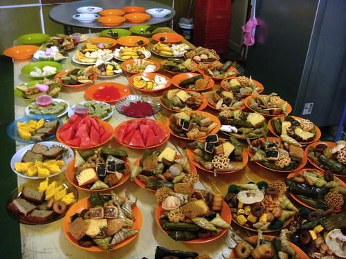 big table of food