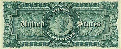1886 $5 Silver Certificate
