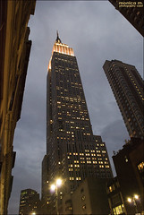Empire - NY (Monica M. ) Tags: nyc usa newyork america nikon unitedstates manhattan empirestatebuilding luci grattacielo bigapple notturna notte notturno statiuniti d80 monicamongelli