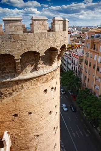 Valencia, torres de Quart, detalle