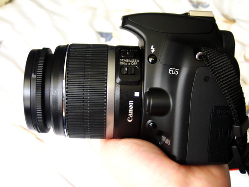 Side view of my Canon 1000D