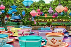 Disneyland Aug 2009 - The Tea Cups and Storybook Land