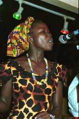 Mac Tontoh Project from Ghana at the Africa Centre London July 2001 009 with Vida Abena Owusua (photographer695) Tags: world africa from 2001 abena music london mac african centre band july jazz ghana vida warriors ashanti kete trumpeter amanas osibisa tontoh owusua nanaeba exosibisa