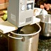 Sous vide setup: immersion circulator heater in a pot