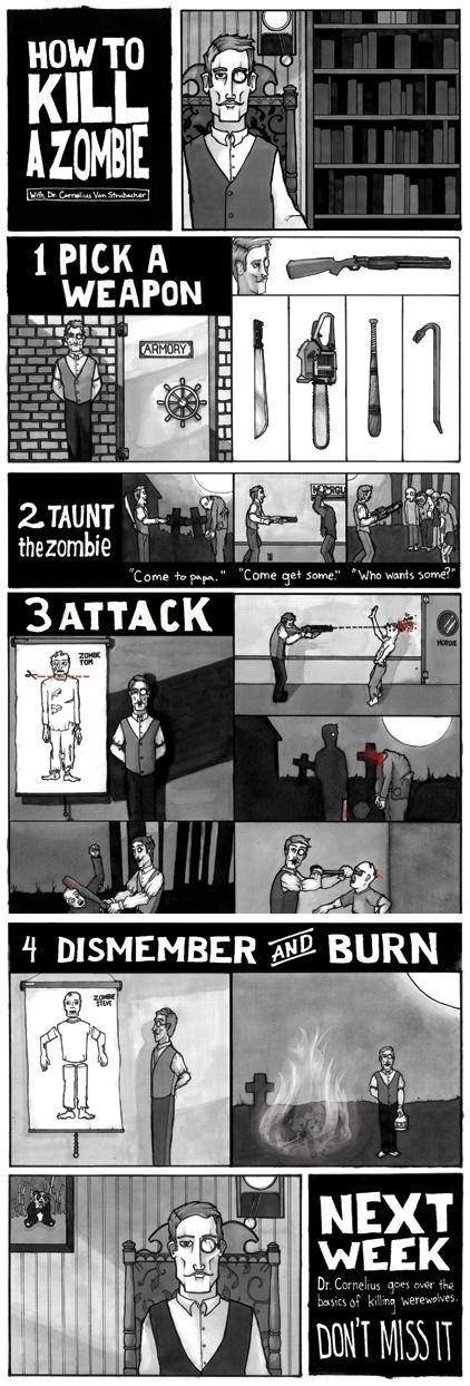 como matar a un zombie