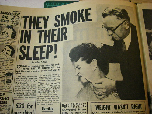 They smoke in the sleep!