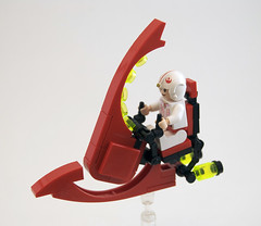 The Ruby Wyvern (Titolian) Tags: red bike speed dragon lego space ruby speeder wyvern