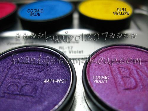 Ben Nye Lumiere eyeshadow - Amethyst & Cosmic Violet