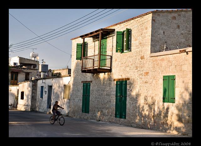 'Aγιος Δημητριανός Πάφος, δρομάκι / Agios Demetrianos village, Paphos