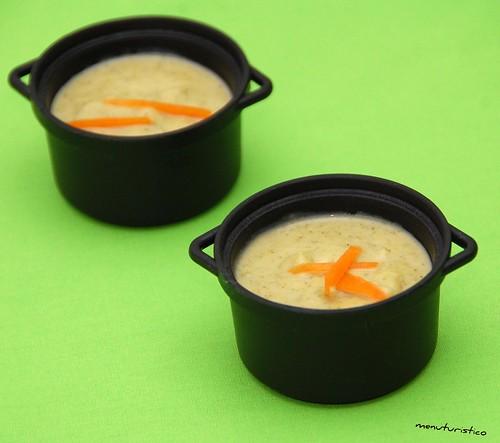 zuppa di broccoli con zucca