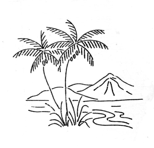 tropical island   originally uploaded by bcampbell to  Island Clipart Black And White
