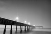 A Prelude to Guinness - Pacifica Pier, California (Jim Patterson Photography) Tags: ocean california longexposure sunset sea sky blackandwhite seascape beach nature monochrome fog photography coast pier sand marine pacific tripod shoreline foggy coastal shore lee coastline piling pacifica gitzo reallyrightstuff remoterelease nikkor1224mm graduatedneutraldensityfilter nikond300 markinsm20ballhead jimpattersonphotography jimpattersonphotographycom seatosummitworkshops seatosummitworkshopscom