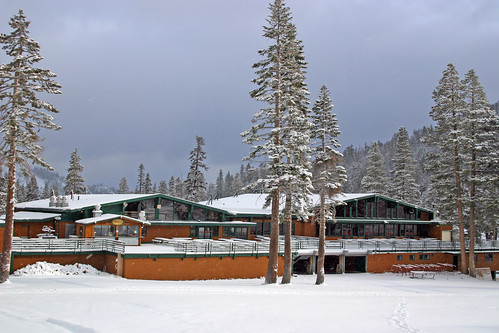 Lodge with Snow