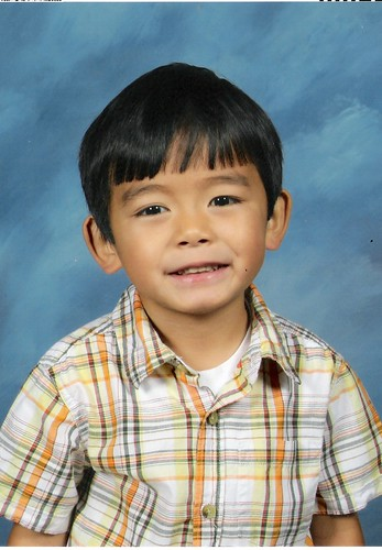 Ethan school picture 2009- pre K