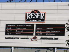 Reser Stadium scoreboard