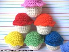 1/2 Dozen Rainbow Crochet Cupcakes 1 (xelishacopeland) Tags: kitchen set kids dessert toy rainbow toddler soft sweet handmade crochet plush cupcake kawaii crocheted frosting halfdozen playfood 12dozen