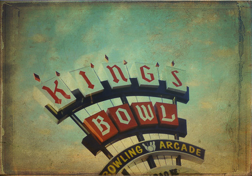 Kings Bowl Sign with Texture by sueism1