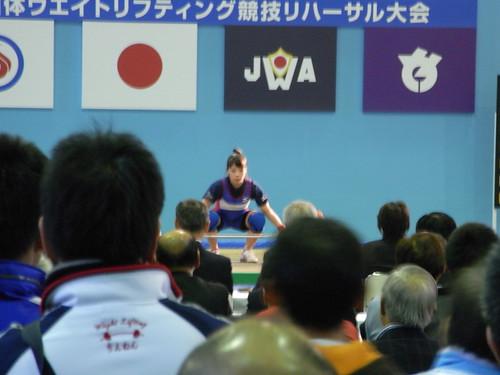 女子53kg級 スナッチ 日本新記録 86kg