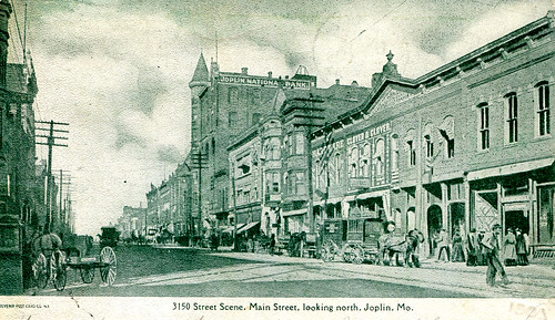 Main Street Joplin circa 1906 or earlier.