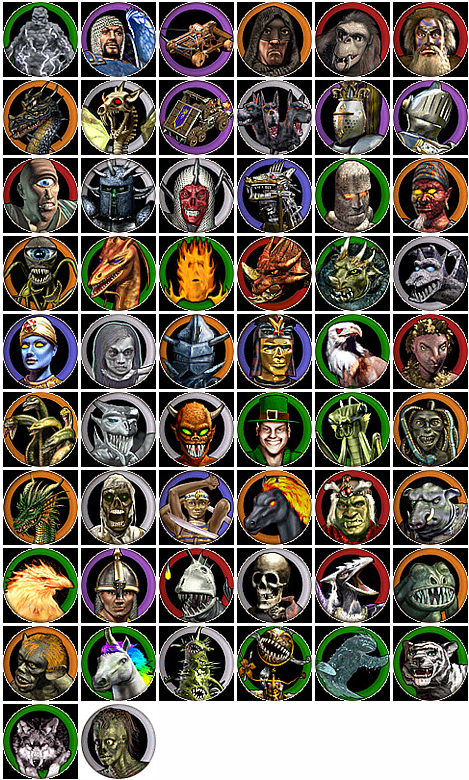 Heroes of Might and Magic 4 Unit Portraits