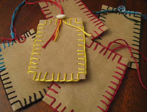 Recycled Paper Bag Gift Tags