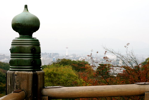 Kyomizu-Dera and Kyoto Tower in the Distance