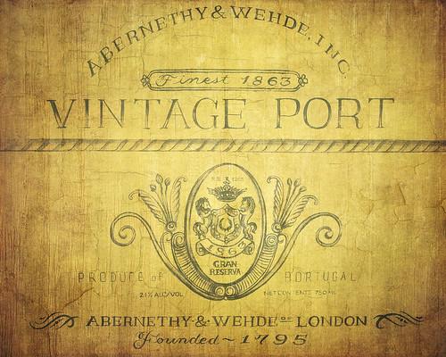 Vintage Wine Texture
