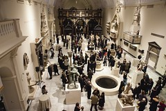 The Medieval & Renaissance Galleries opening night, 1st December 2009.