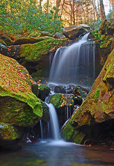 Falling Water (P. Oglesby) Tags: autumn waterfall october tennessee thehighlander godlovesyou grottofallstrail greatsmokymountainsnp goldstaraward 1001nightsmagiccity