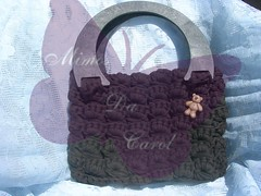 Mimos da Carol (Forum - Atelier Das Artes) Tags: crochet biscuit tear bijutaria madeira malas trico tecido chacota fatbag trapilho pontotunisiano pontoperuano