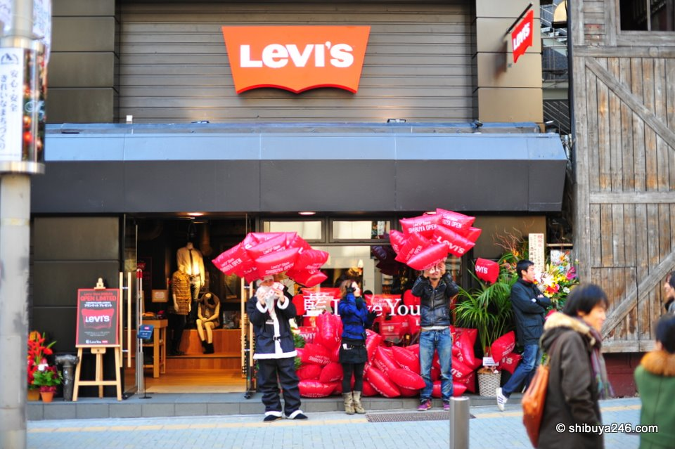 In front of the LEVI'S store in Shibuya.