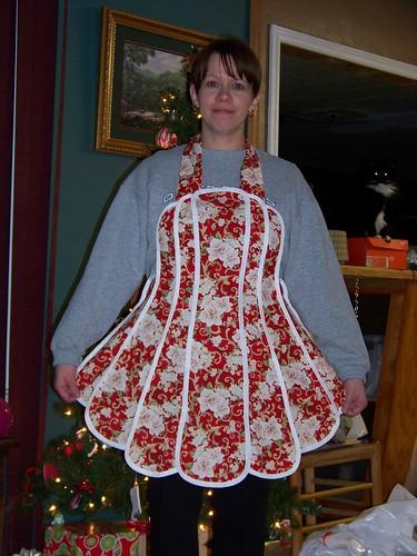 White Christmas apron rec'd