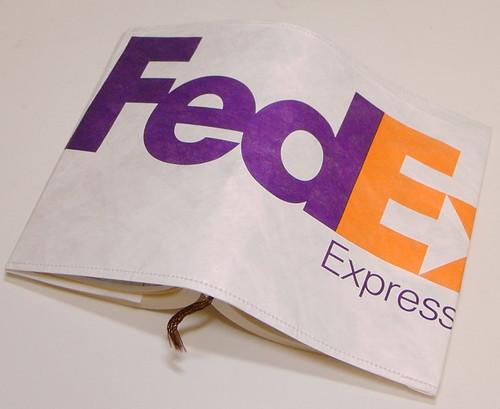 fedex封筒のリメイクブックカバー