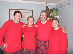 The family on Christmas morning