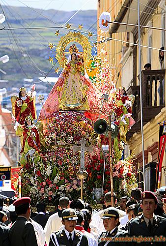 The image of the Virgen de la Candelaria
