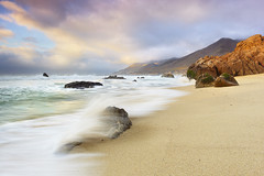 Garrapata Surf #7 - Garrapata State Park, Big Sur, California (PatrickSmithPhotography) Tags: ocean california travel light vacation usa seascape rock fog clouds landscape monterey sand surf unitedstates pacific bigsur carmel garrapata landscapephotography tnc11