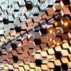 Known knowns (Arni J.M.) Tags: building architecture geotagged iceland islandia mirrors reykjavik ceiling hexagon geotag reykjavík ísland islande islanda harpa nikond80 harpaconcerthall