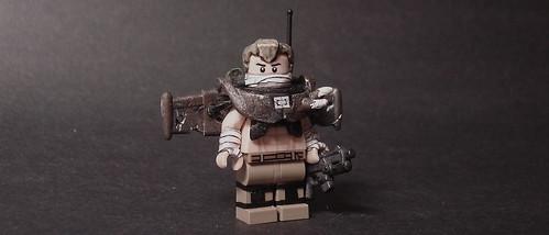 Custom minifig F-Corporation Combat Armor: Flight Variant