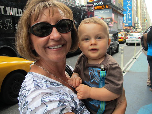 Having fun in Times Square