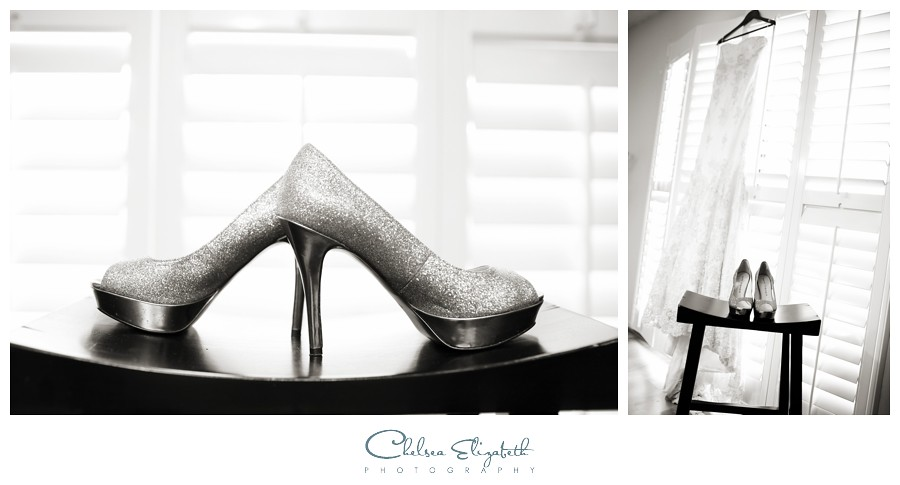 brides shoes and dress pasadena wedding