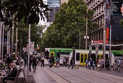 Bourke & Swanston Street intersection (andrewsurgenor) Tags: transit transport publictransport electric streetscenes citytransport city urban trams streetcars trolleys melbourne victoria australia