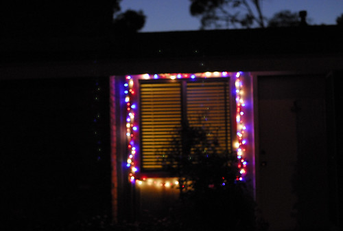 christmas lights, july