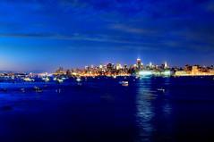 waiting for the show (mudpig) Tags: nyc newyorkcity longexposure bridge newyork reflection skyline night skyscraper geotagged boats newjersey jerseycity cityscape newport fourthofjuly macys hudsonriver independenceday georgewashington pavonia mudpig stevekelley