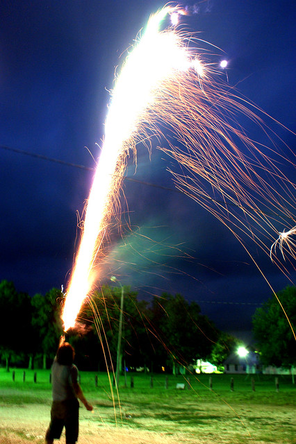 Roman candle, 4th of July 2009