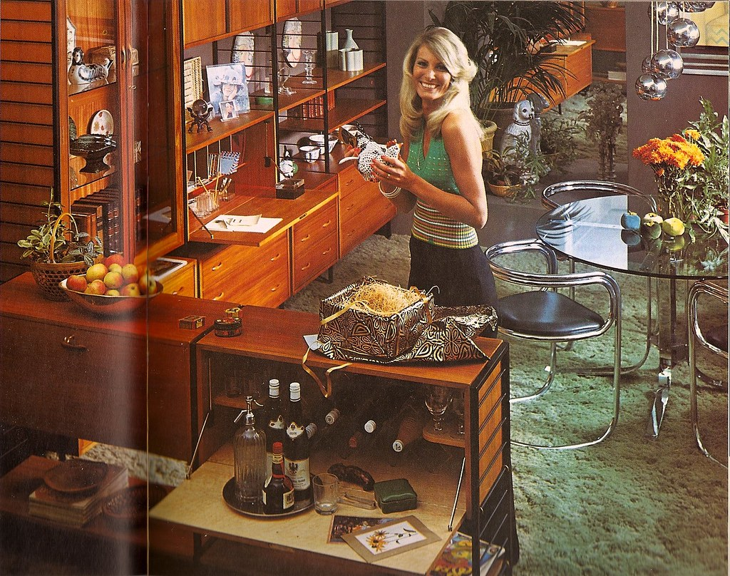 the wall: How to Decorate Without Going Broke (Woman Alive, 1974)