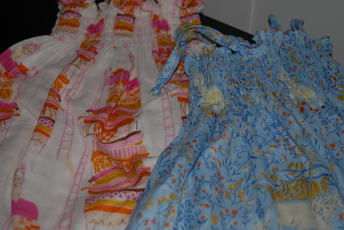 Far Far Away Dresses for Zella and Rosie