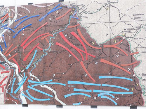 Map of WWII battles